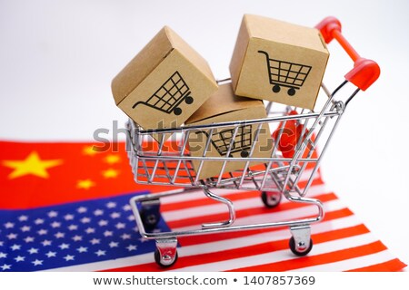 USA hand vrachtwagen vlag amerika Stockfoto © tashatuvango