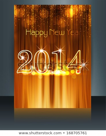 vector brochure beautiful template texture new year 2014 reflect stock photo © bharat