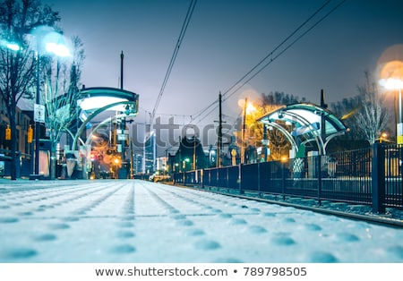 light rail train station in   charlotte nc Stock photo © alex_grichenko