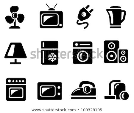 black home electronics icons stock photo © SergeyT
