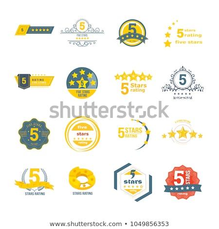 golden top rated badge Stock photo © burakowski
