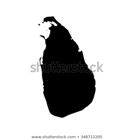 Азии карта Шри Ланка лев меч стране Сток-фото © Ustofre9