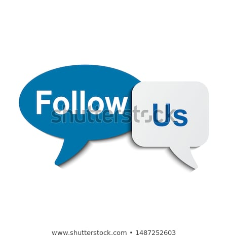 Hand Clicking Follow Us Button Stock photo © ivelin