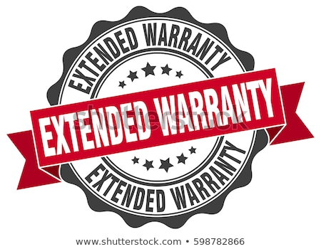 Foto stock: Extended Warranty Stamp