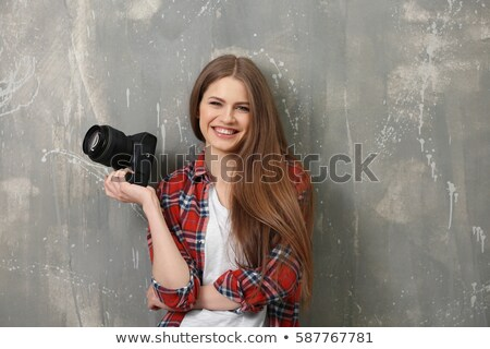 young woman in the photostudio Stock photo © ssuaphoto