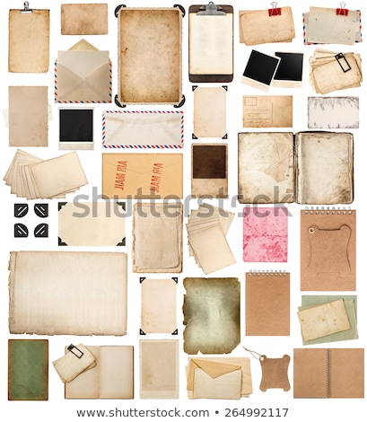 starych · pocztówkę · grunge · papieru · starzenie · się · pusty - zdjęcia stock © jonnysek