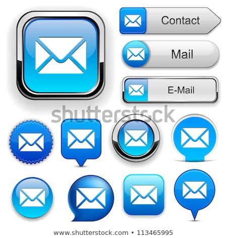手紙 · ボタン · 青 · ベクトル - ストックフォト © place4design