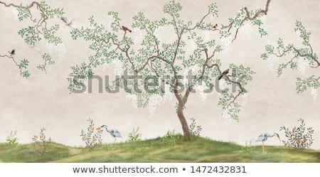 Meer vogel boom oude nacht Stockfoto © rghenry