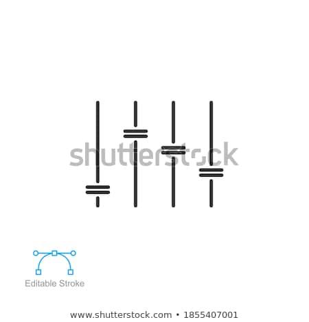 Hangerő kapcsoló eps10 vektor zene irányítás Stock fotó © deomis