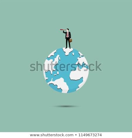 3次元の男 · 世界中 · 検索 · 虫眼鏡 · インターネット · 世界 - ストックフォト © kirill_m