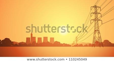 erő · pólus · transzformátor · égbolt · beton · drót - stock fotó © thomaseder