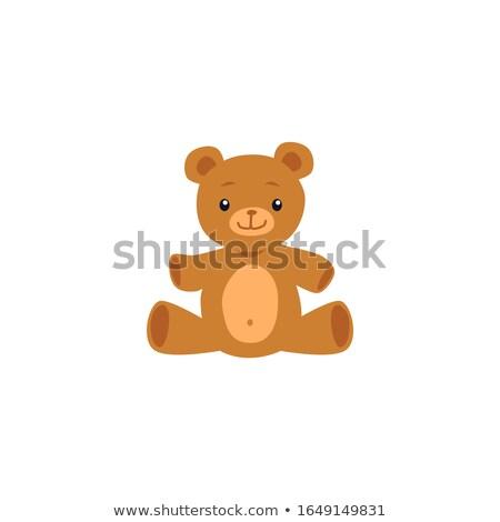 Hasta oyuncak ayı yatak termometre tıp levha Stok fotoğraf © Tagore75