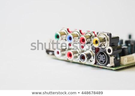 кабеля звук карт изолированный белый музыку Сток-фото © diabluses