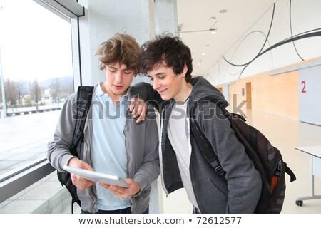 teenage boys using tablet Stock photo © ambro