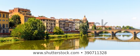 buildings on the bank of arno river in florence italy stock photo © nejron