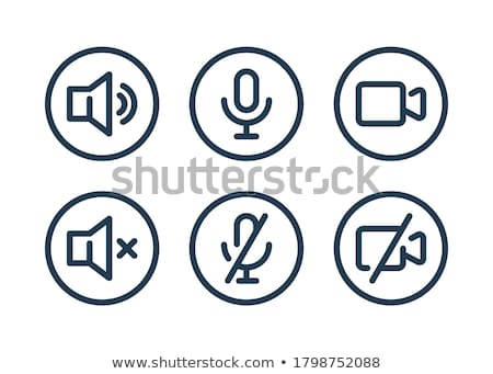 set of audio and video symbols stock photo © elenapro
