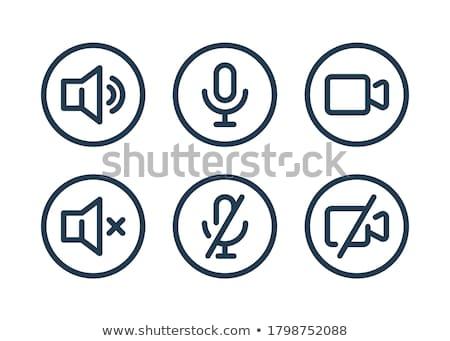 Conjunto Áudio vídeo símbolos projeto teia Foto stock © elenapro