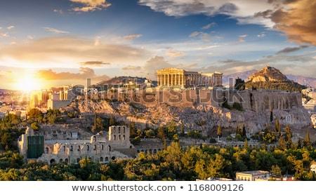 Partenon Acrópole Atenas Grécia 22 turistas Foto stock © AndreyKr