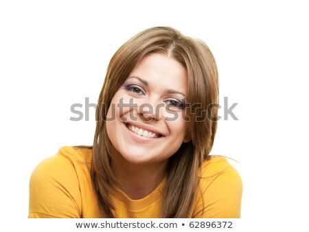 Fiatal nő fej vállak nő boldog munka Stock fotó © monkey_business