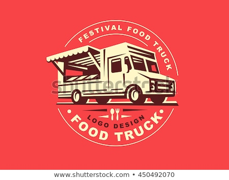 食品 · トラック · ベクトル · テンプレート · 車 · ブランド設定 - ストックフォト © mikemcd