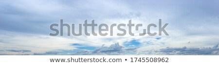 heldere · witte · donkere · stormachtig · wolken · blauwe · hemel - stockfoto © nejron