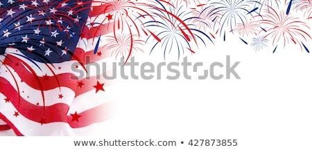 amerikaanse · dag · vlag · viering · creatieve - stockfoto © bharat