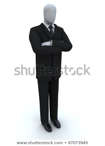 businessman waits, having combined hands stock photo © goryhater