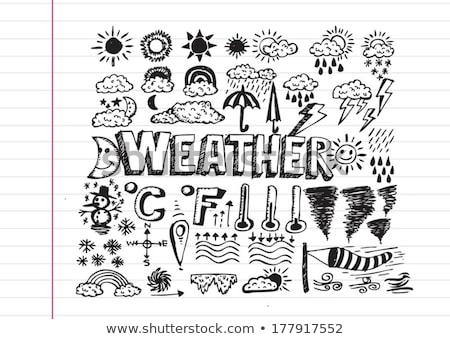 Rajz ötlet időjárás szimbólumok ikonok absztrakt Stock fotó © kiddaikiddee