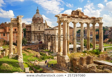 Beautiful view of Imperial Forum in Rome Stock photo © Dserra1