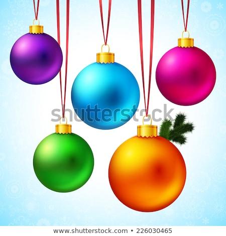 karácsony · dekoráció · spektrum · szín · szett · szivárvány - stock fotó © -baks-