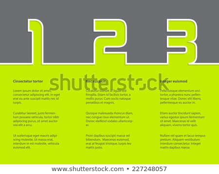Simple infographic with white grades on green gray background Stock photo © vipervxw