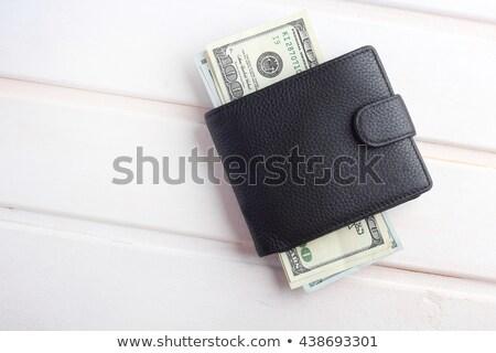 fekete · pénztárca · pénz · izolált · fehér · nő - stock fotó © siavramova