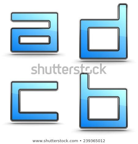 brieven · ingesteld · touchpad · stijl · 3D · alfabet - stockfoto © tashatuvango