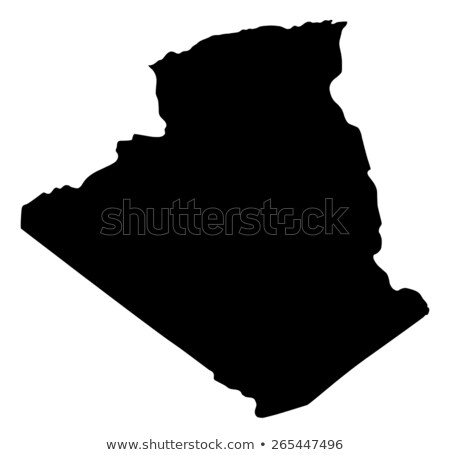 Silhouette carte Algérie signe blanche Photo stock © mayboro