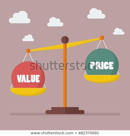preço · valor · saldo · escala · mão · desenho - foto stock © ivelin