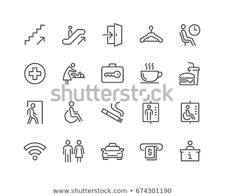 Stock photo: Set of toilet people signs