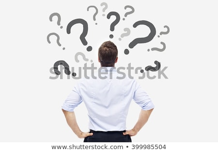 Stock photo: Confused Man And Question Marks