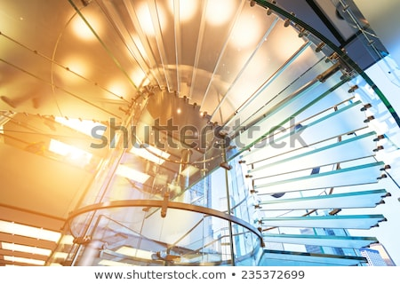 modern glass spiral staircase stock photo © dotshock
