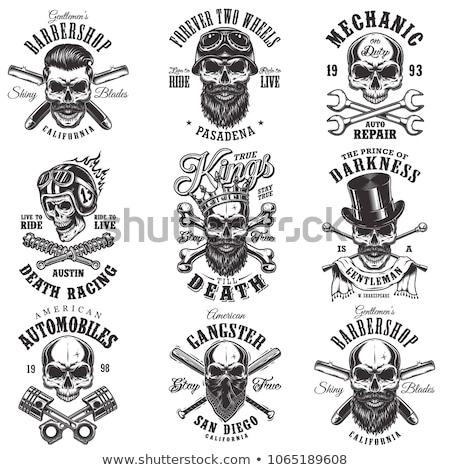 Roi gangster insigne gangsters résumé crâne Photo stock © retrostar