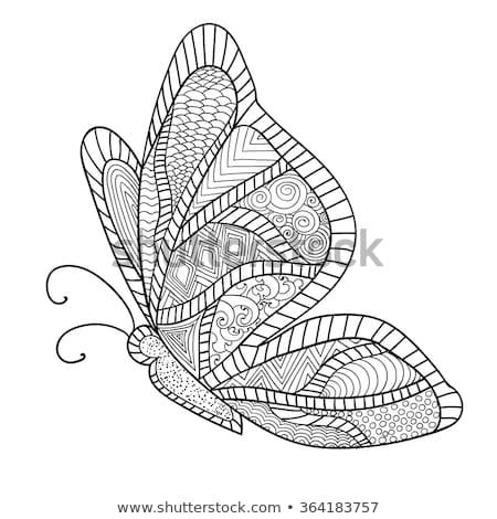 grunge · borboletas · arco-íris · preto · e · branco · céu · feliz - foto stock © smeagorl