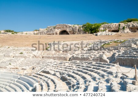 Ancient ruins of Greek Theater in Syracuse, Sicily Stock photo © ankarb