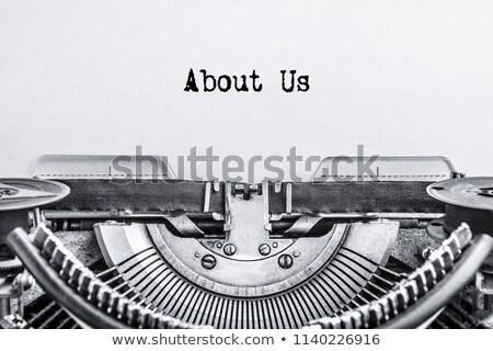 Metaal over ons tekst internet teken groep Stockfoto © bosphorus