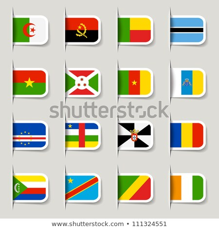 Zászló címke Madagaszkár izolált fehér felirat Stock fotó © MikhailMishchenko