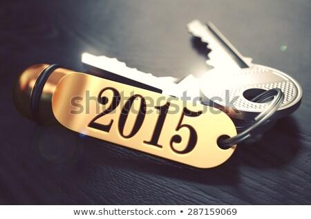 2015 キー 文字 黒 ストックフォト © tashatuvango