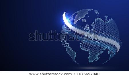 Világszerte hálózat bolygó kommunikál konnektivitás mutat Stock fotó © stuartmiles