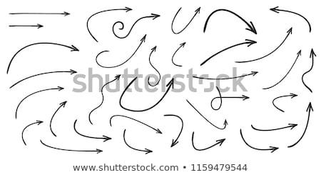 set of black hand drawn arrows stock photo © gladiolus