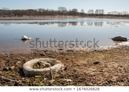 Pollution lac rive plastique autre Photo stock © smithore
