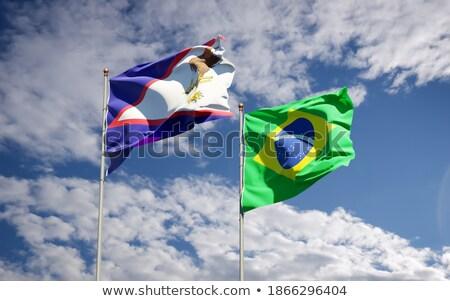 Brasil Samoa Americana bandeiras quebra-cabeça isolado branco Foto stock © Istanbul2009