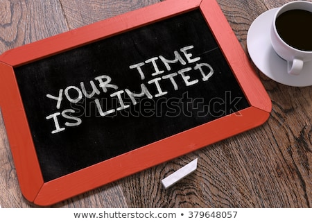 Handwritten Manage Your Time on a Chalkboard. Stock photo © tashatuvango