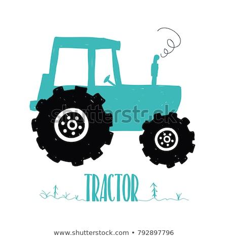 Karalama traktör yalıtılmış beyaz mükemmel eps Stok fotoğraf © netkov1